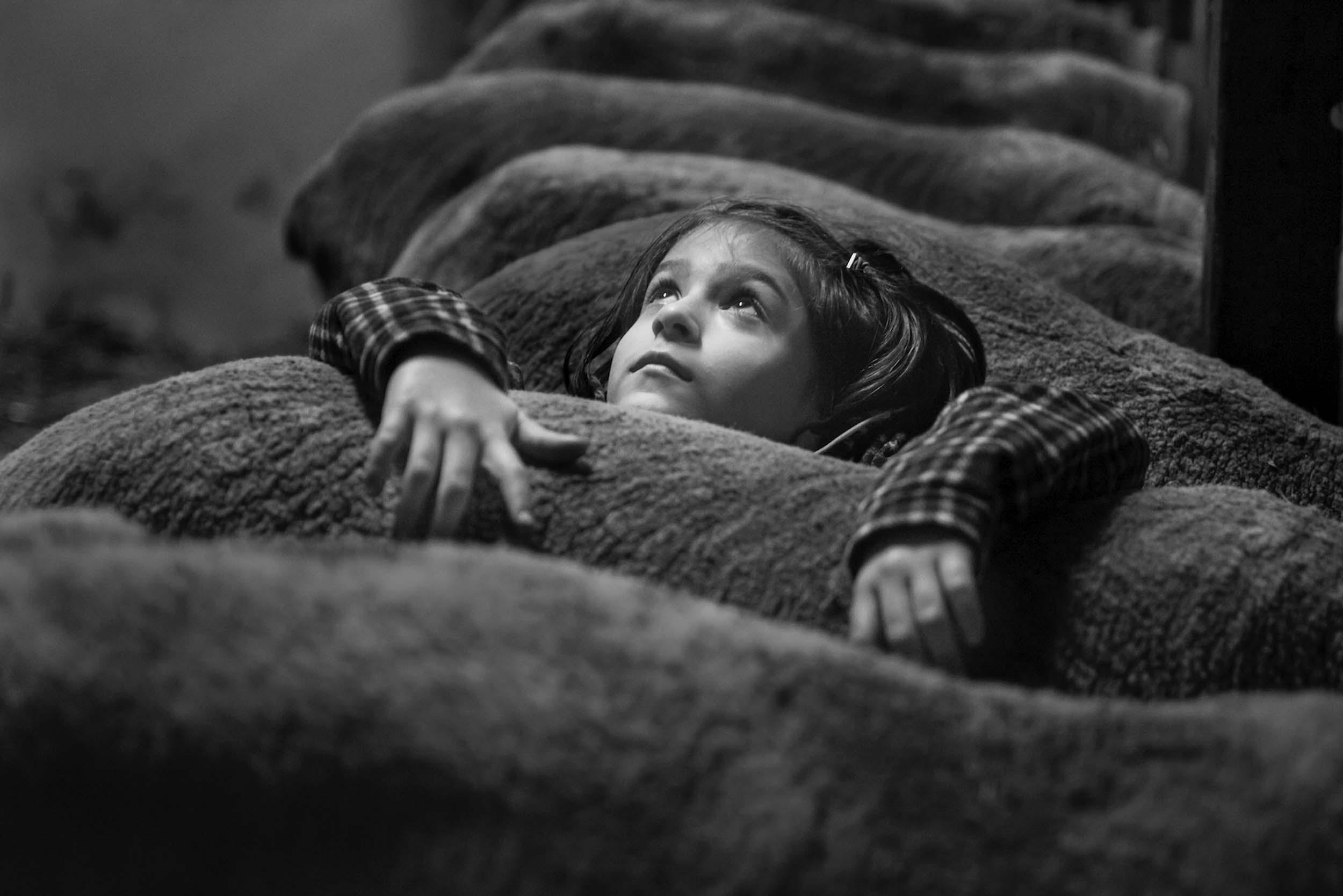 photo bambina pecore